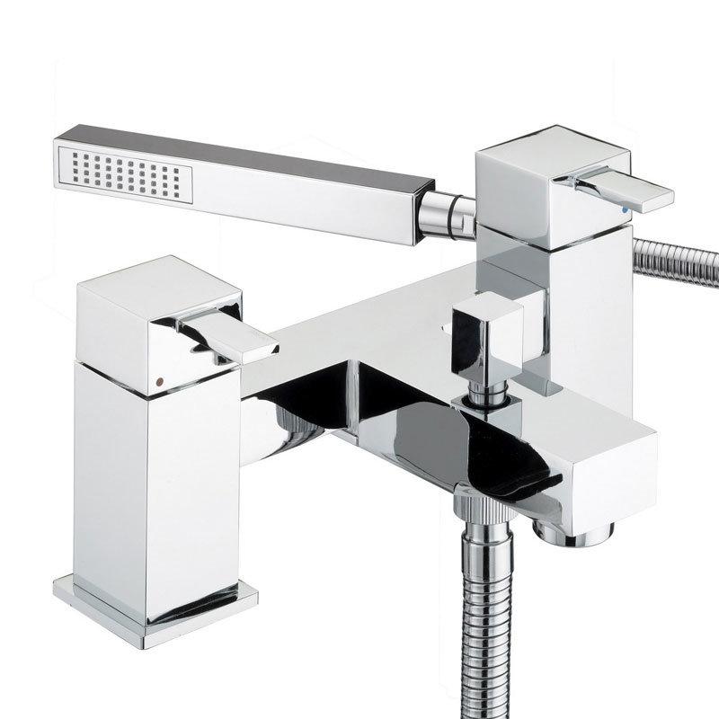 Bristan - Quadrato Pillar Bath Shower Mixer - Chrome - QD-BSM-C profile large image view 1