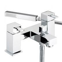 Bristan - Quadrato Pillar Bath Shower Mixer - Chrome - QD-BSM-C Medium Image