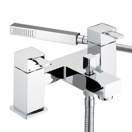 Bristan - Quadrato Pillar Bath Shower Mixer - Chrome - QD-BSM-C
