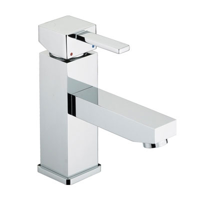 Bristan - Quadrato Basin Mixer w/ Eco-Click & Pop-up Waste - Chrome - QD-EBAS-C Large Image