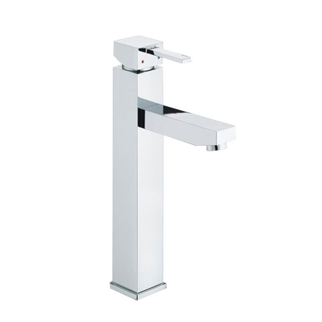 Bristan - Quadrato Tall Basin Mixer (no waste) - Chrome - QD-TBAS-C Large Image