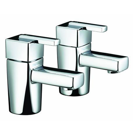 Bristan - Qube Basin Taps - Chrome - QU-1/2-C