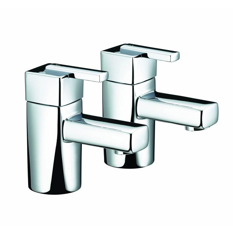 Bristan - Qube Bath Taps - Chrome - QU-3/4-C Large Image