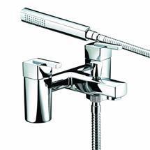 Bristan - Qube Bath Shower Mixer - Chrome - QU-BSM-C Medium Image