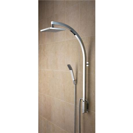 Bristan - Qube Thermostatic Inline Vertical Shower Pole w/ Integral Diverter to Handset