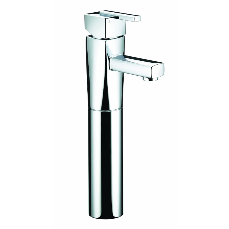 Bristan - Qube Tall Basin Mixer (no waste) - Chrome - QU-TBAS-C Large Image