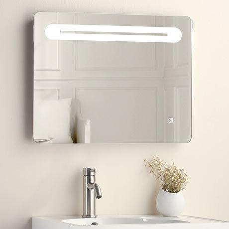 Quebec 650x500mm LED Mirror Inc. Touch Sensor, Anti-Fog + Shaving Port