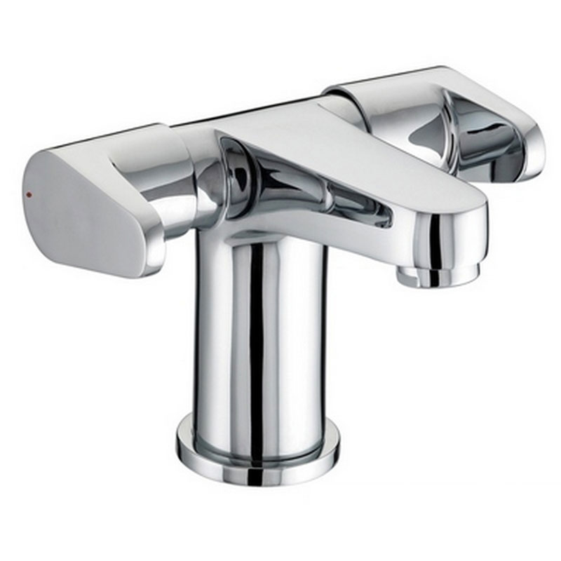 Bristan - Quest Contemporary 2 Handled Basin Mixer w/ Clicker Waste - Chrome - QST-BAS2-C Large Image