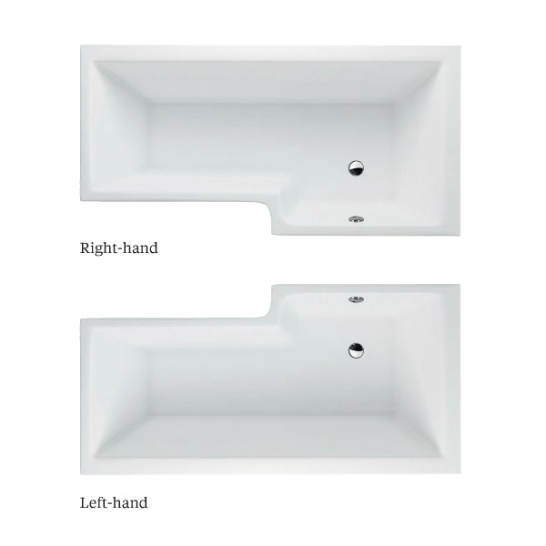 Cleargreen - EcoSquare 1700mm Shower Bath - Left or Right Hand Option profile large image view 3