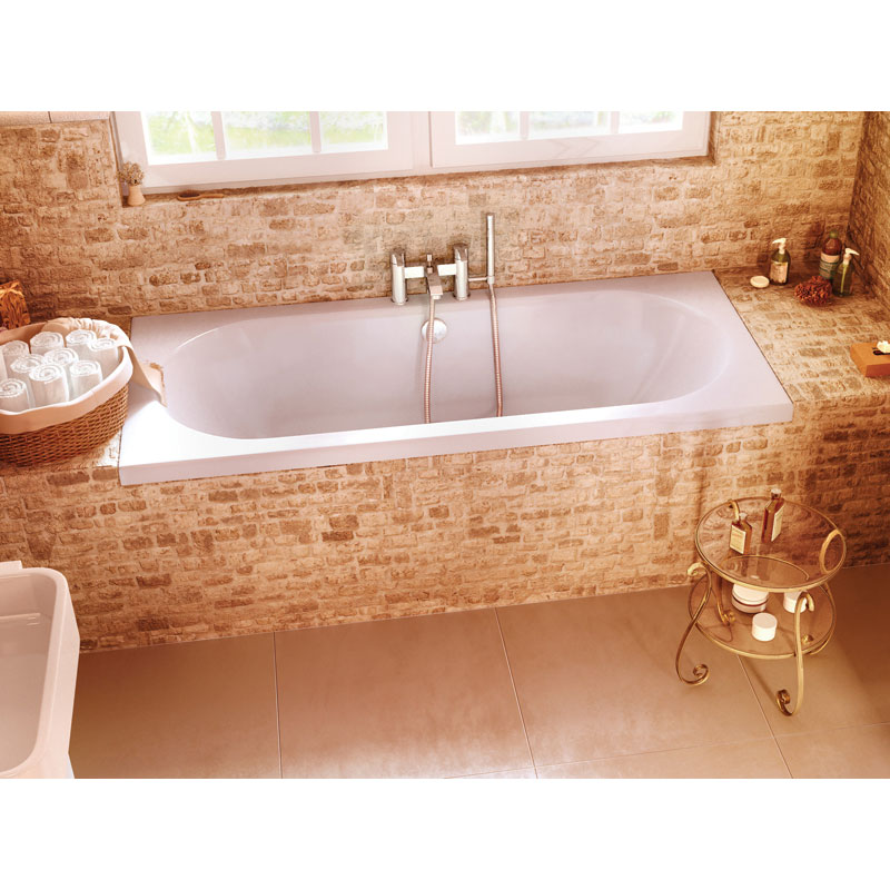 Cleargreen - Verde Double Ended Acrylic Bath profile large image view 2