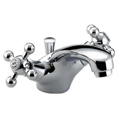 Bristan - Regency Mono Basin Mixer w/ Pop Up Waste - Chrome Plated - R-BAS-C