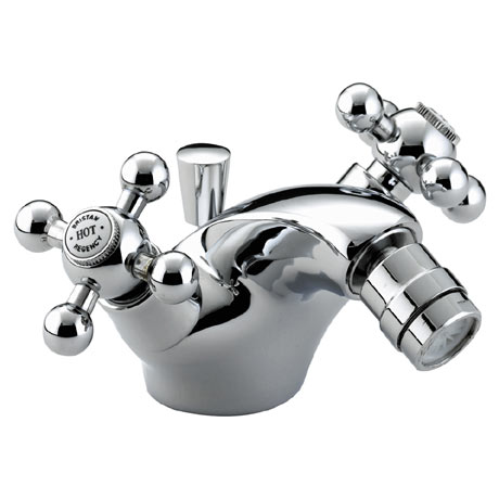 Bristan - Regency Mono Bidet Mixer w/ Pop Up Waste - Chrome Plated - R-BID-C