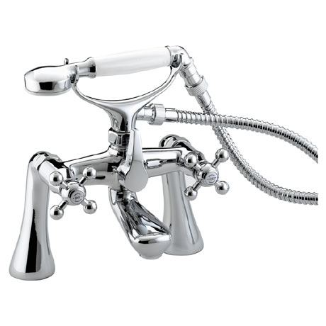 Bristan - Regency Bath Shower Mixer w/ Tall Pillars - Chrome Plated - R-TBSM-C