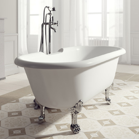 Ramsden & Mosley Rona 1750 Double Ended Roll Top Bath Inc. Chrome Feet