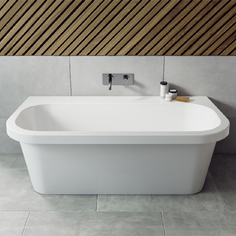 Ramsden & Mosley Jersey 1700 Modern Back To Wall Bath