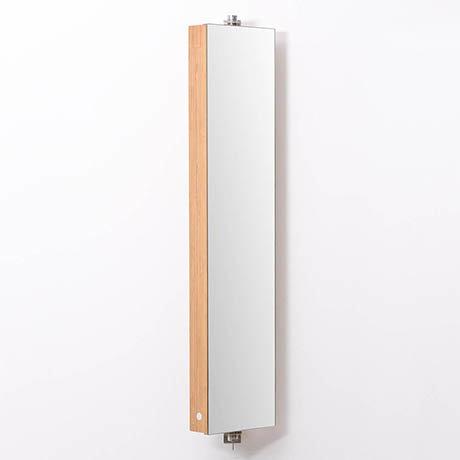 1110mm Revolving Mirror Cabinet Bamboo