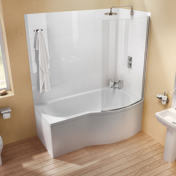 Cleargreen - EcoRound 1700mm Shower Bath - Left or Right Hand Option profile large image view 2