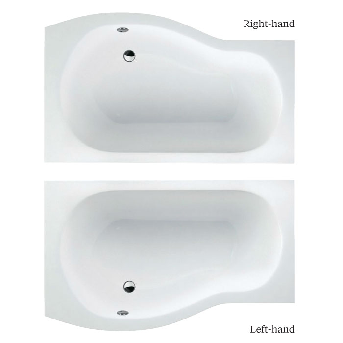 Cleargreen - EcoRound 1700mm Shower Bath - Left or Right Hand Option profile large image view 3