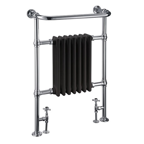 Burlington Trafalgar Black Heated Towel Rail Radiator