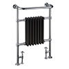 Burlington Trafalgar Black Heated Towel Rail Radiator profile small image view 1