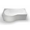 Britton Clearline EcoRound 1700mm Shower Bath profile small image view 1