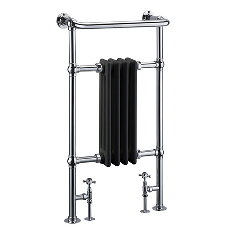 Burlington Bloomsbury Black Heated Towel Rail Radiator - R2CHRBLA