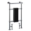 Burlington Bloomsbury Black Heated Towel Rail Radiator - R2CHRBLA profile small image view 1