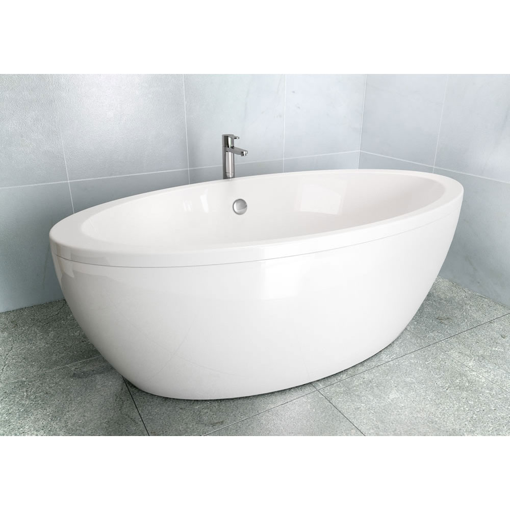 Cleargreen - Freefuerte Double Ended Freestanding Bath & Surround - 1740 x 865mm profile large image view 2