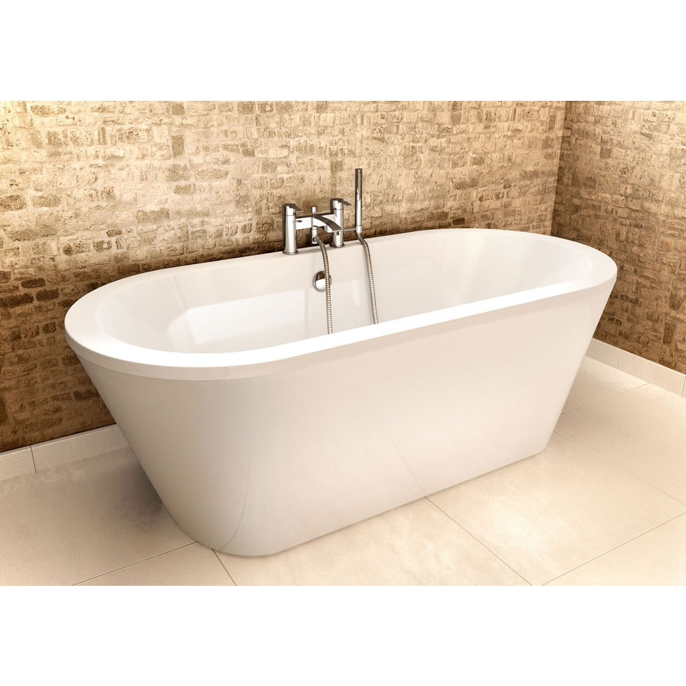 Cleargreen - Freestark Double Ended Freestanding Bath & Surround - 1740 x 800mm Profile Large Image