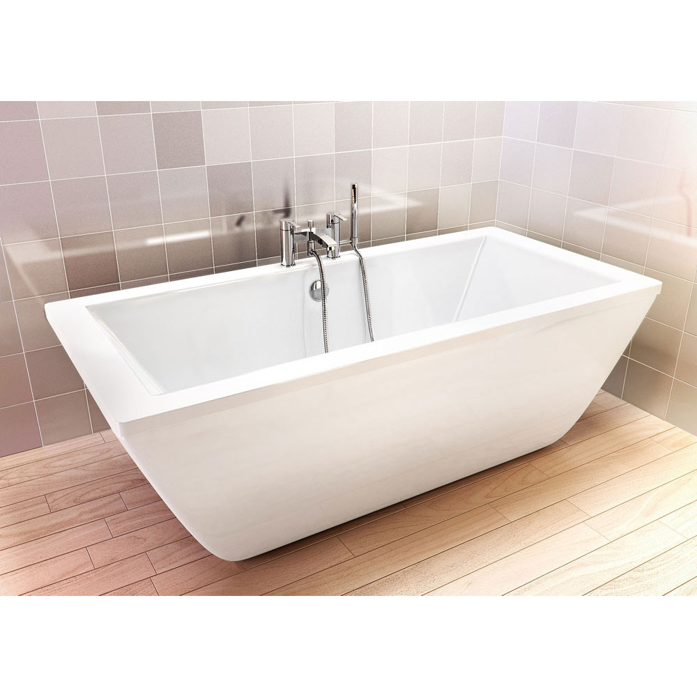 Cleargreen - Freefortis Double Ended Freestanding Bath & Surround - 1800 x 800mm Profile Large Image