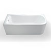 Britton Clearline Viride 1700mm x 750mm Offset Bath profile small image view 1