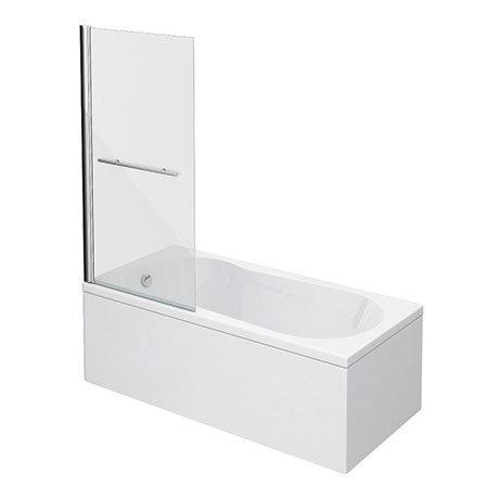 Taranto 1700 x 800mm Keyhole Shower Bath with Screen