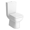 Nuie Renoir Compact Toilet with Soft Close Seat profile small image view 1