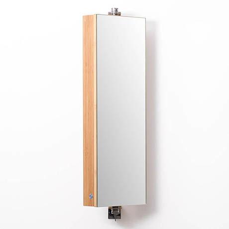 710mm Revolving Mirror Cabinet Bamboo