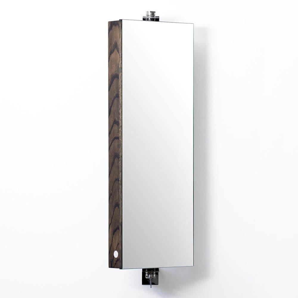 710mm Revolving Mirror Cabinet Dark Oak