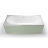 Britton Clearline Verde Double Ended Bath profile small image view 1