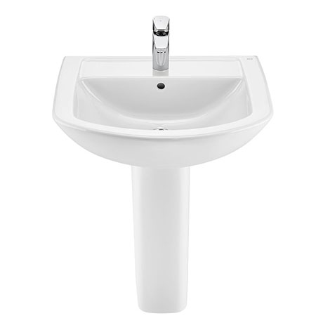 Roca Aire Round 600mm 1TH Basin with Full Pedestal