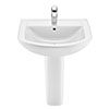 Roca Aire Round 600mm 1TH Basin with Full Pedestal profile small image view 1
