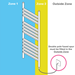 Milan 490 x 800mm Heated Towel Rail (inc. Valves + Electric Heating Kit) profile small image view 3