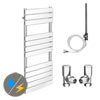 Milan 490 x 1200mm Heated Towel Rail (Inc. Valves + Electric Heating Kit) profile small image view 1