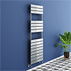 Milan Chrome 1500 x 500mm Flat Panel Heated Towel Rail - 15 Sections profile small image view 1