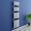 Murano Curved 1500 x 500mm Chrome Modern Heated Towel Rail - 22 Sections profile small image view 1