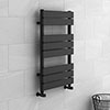 Milan Heated Towel Rail 800mm x 490mm Anthracite profile small image view 1