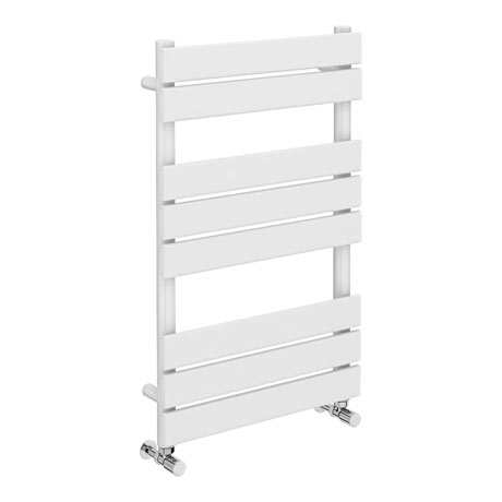 Milan White 800 x 490mm Heated Towel Rail