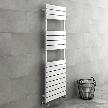 Milan White 1500 x 500mm Heated Towel Rail