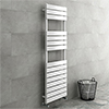 Milan White 1500 x 500mm Heated Towel Rail profile small image view 1
