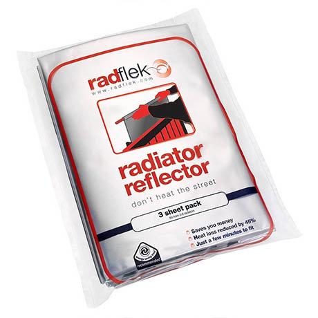 Radflek Radiator Reflector Sheets with Radstik (3 Pack)