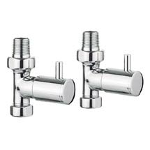 Bauhaus - Chrome Round Straight Radiator Valves - RADVS1 Medium Image