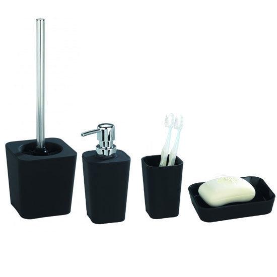 Wenko rainbow bathroom accessories set black at for Victorian bathroom accessories set