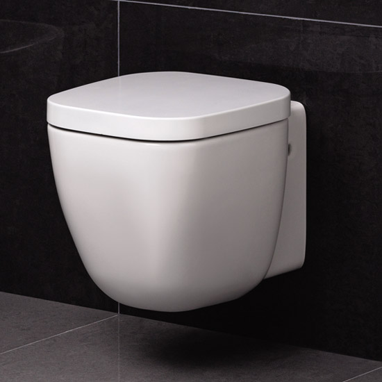 RAK - Elena wall hung WC Toilet with soft close seat Large Image